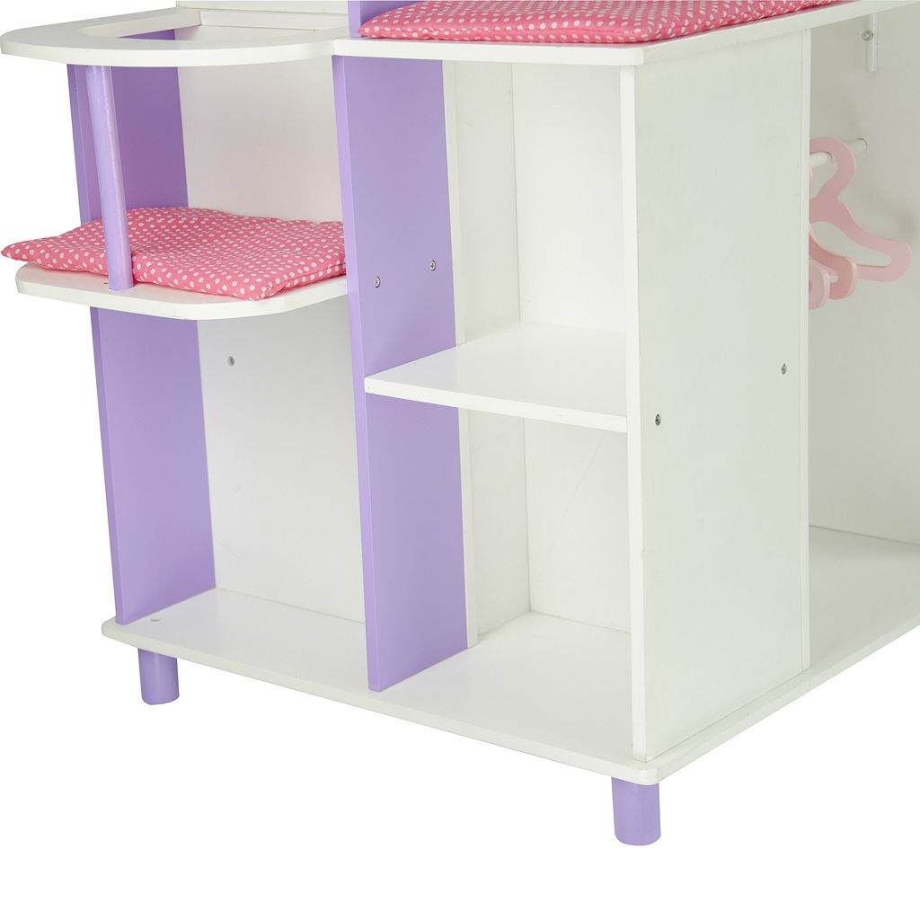 Olivia's Little World Little Princess Doll Furniture 18-in. Baby Changing Station & Storage