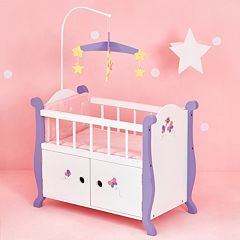 Olivia's Little World Little Princess Doll Furniture 18-in. Baby Nursery Bed & Cabinet by