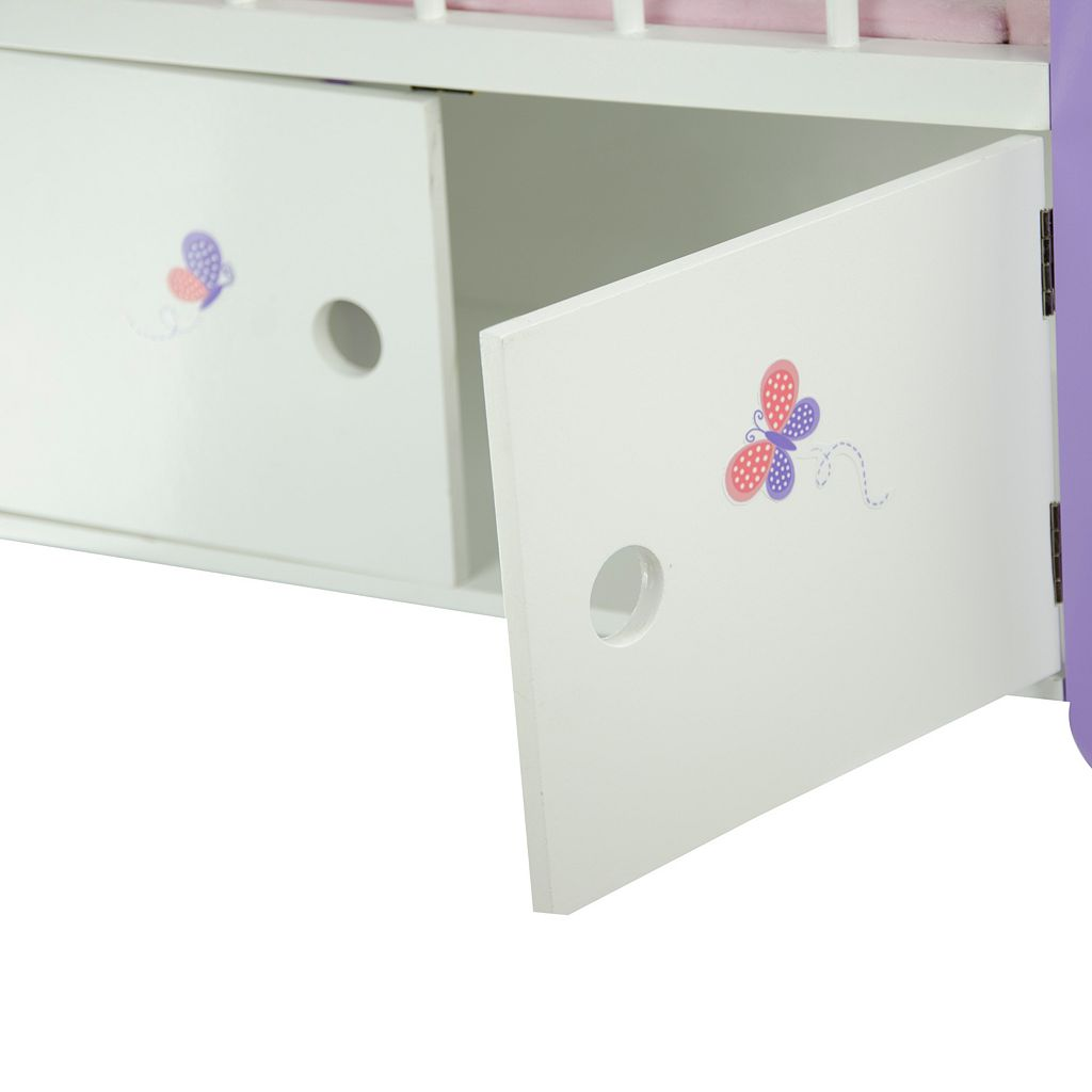 Olivia's Little World Little Princess Doll Furniture 18-in. Baby Nursery Bed & Cabinet