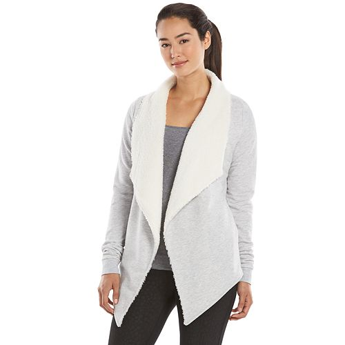 Women's Gaiam Compass Sherpa Open-Front Wrap