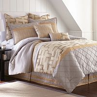 Pacific Coast Textiles 8 pc Geometric Jacquard Comforter Set
