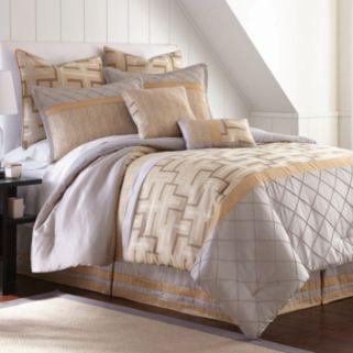 Pacific Coast Textiles 8-pc. Geometric Jacquard Comforter Set