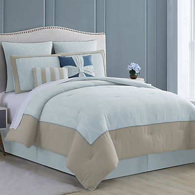 Pacific Coast Textiles 8-pc. Embroidered Comforter Set