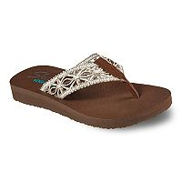 Skechers Mediation Women's Yoga Mat Thong Flip-Flops