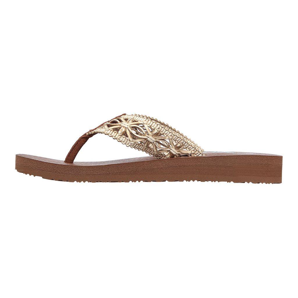 Skechers Mediation Women's Yoga Mat Thong Flip-Flops