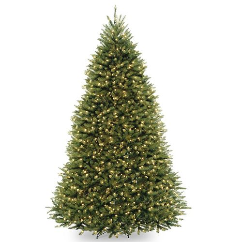 - 9-ft. Pre-Lit Dunhill Fir Dual Color Artificial Christmas Tree