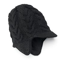 SIJJL Women's Ribbed Brim Wool Beanie