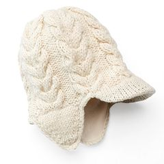 SIJJL Women's Ribbed Brim Wool Beanie