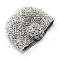 SIJJL Women's Floral Wool Beanie