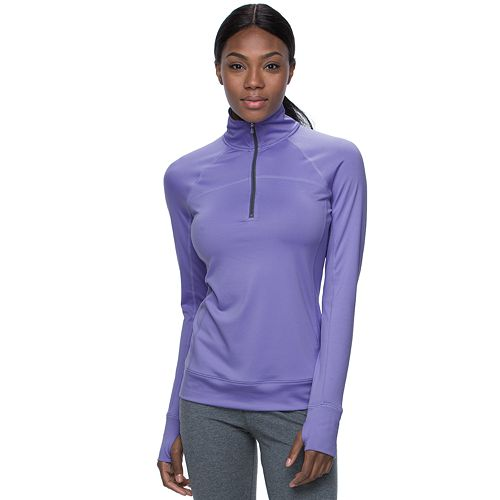 Women's Tek Gear® Quarter-Zip Raglan Workout Jacket
