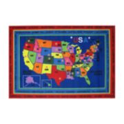 Fun Rugs Fun Time State Capitals Rug
