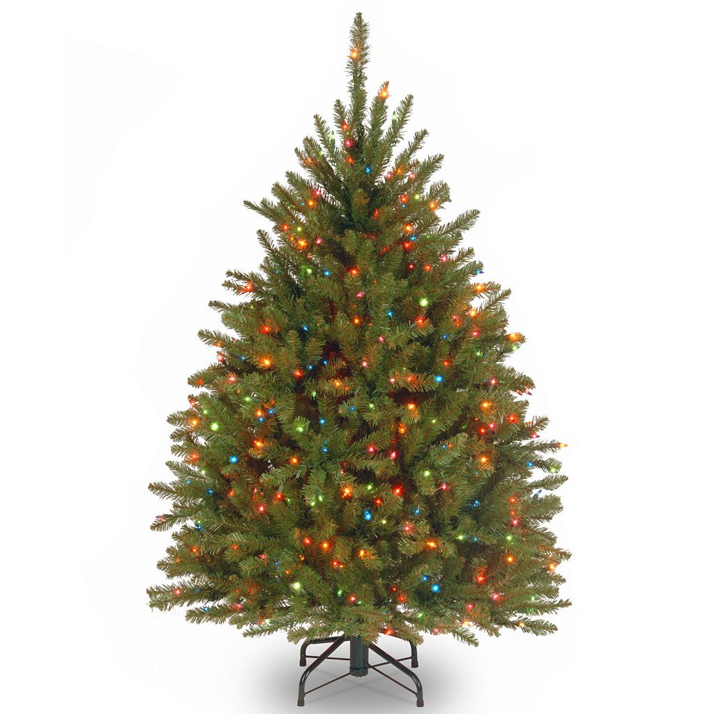 4.5-ft. Pre-Lit Multicolor Dunhill Fir Artificial Christmas Tree