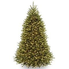 pre lit dunhill fir artificial christmas tree - Pre Lit Decorated Christmas Trees
