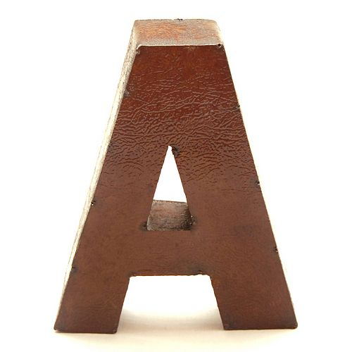Rustic Arrow 9-Inch Letter Wall Decor