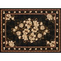 United Weavers China Garden Sugar Magnolia Framed Floral Rug