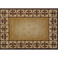 United Weavers China Garden Fleur De Lis Framed Rug