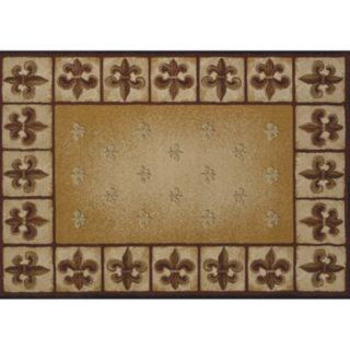 United Weavers China Garden Fleur De Lys Framed Rug