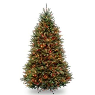 6.5-ft. Pre-Lit Multicolor Dunhill Fir Artificial Christmas Tree
