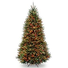 9-ft. Pre-Lit Multicolor Dunhill Fir Artificial Christmas Tree