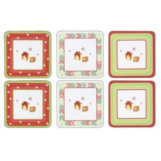 Spode Christmas Jubilee 6-pc. Coaster Set