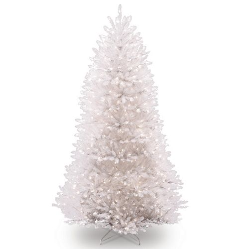 Dunhill Fir Christmas Tree.7 5 Ft Pre Lit White Dunhill Fir Artificial Christmas Tree