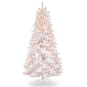 7.5-ft. Pre-Lit Iridescent Dunhill Slim Fir Artificial Christmas Tree