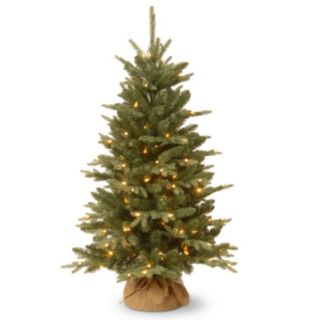 4-ft. Everyday Collections Pre-Lit Burlap Artificial Christmas Tree