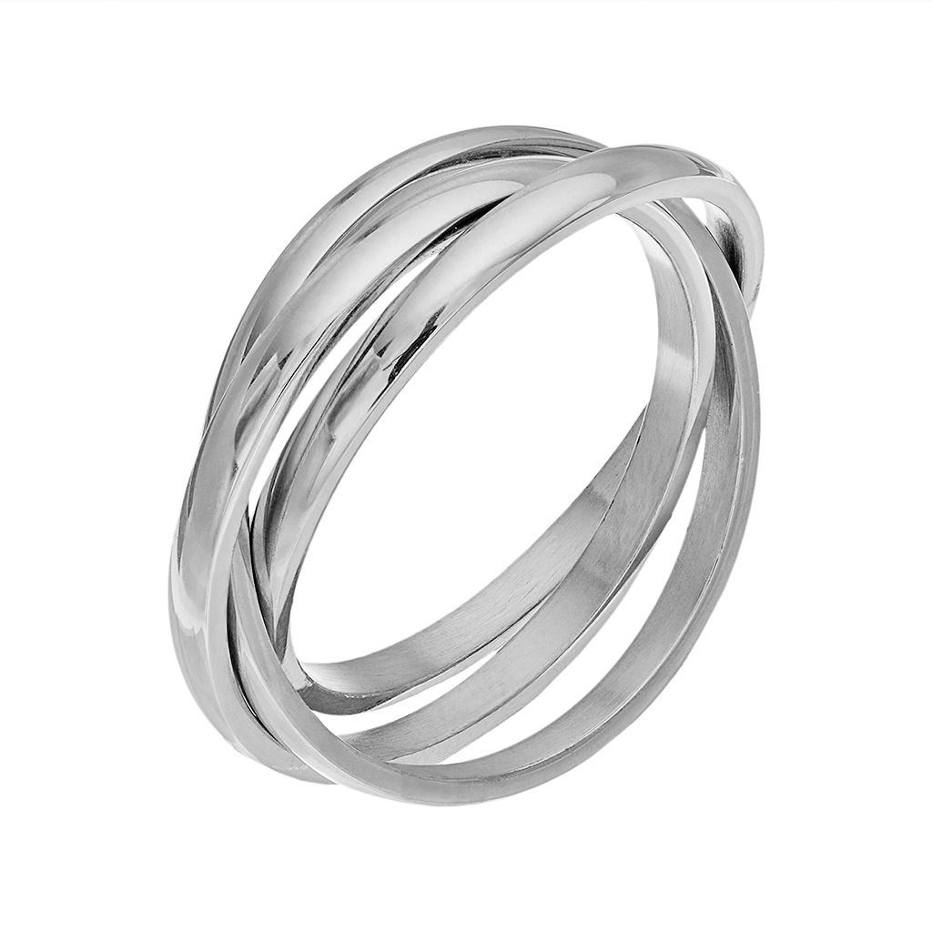 Stainless Steel Triple Interlocking Ring