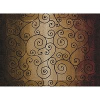 United Weavers China Garden Verdi Scroll Rug