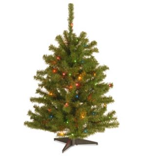 3-ft. Pre-Lit Multicolor Eastern Spruce Artificial Christmas Tree