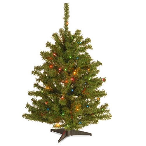 3 ft pre lit multicolor eastern spruce artificial christmas tree
