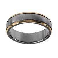 Two Tone Titanium Men's Wedding Band