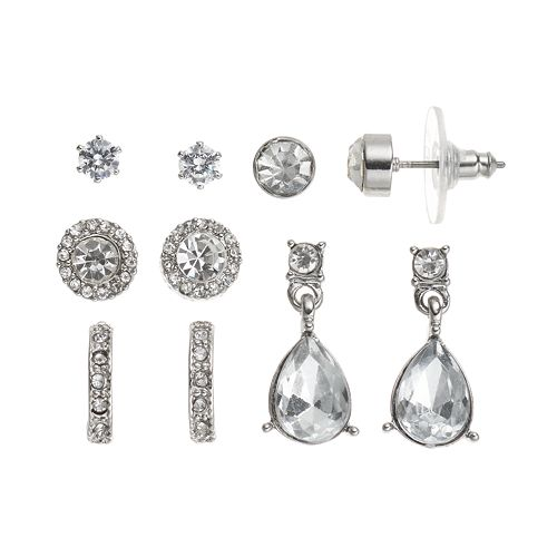 Teardrop, Hoop & Stud Earring Set