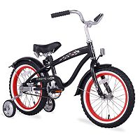 Firmstrong Boys 16 in Bruiser Single-Speed Bike with Training Wheels