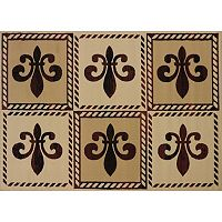 United Weavers China Garden Patchwork Fleur De Lys Rug