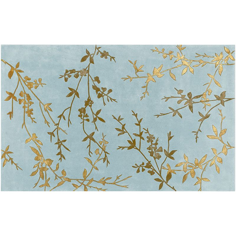 Decor 140 Tamira Leaf Rug, Blue, 5X8 Ft