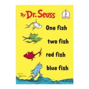 Dr. Seuss One Fish Two Fish Red Fish Blue Fish Hardcover Book