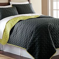 Pacific Coast 3 pc Solid Reversible Coverlet Set