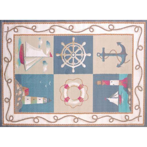 United Weavers Regional Concepts Maritime Coast Framed Rug