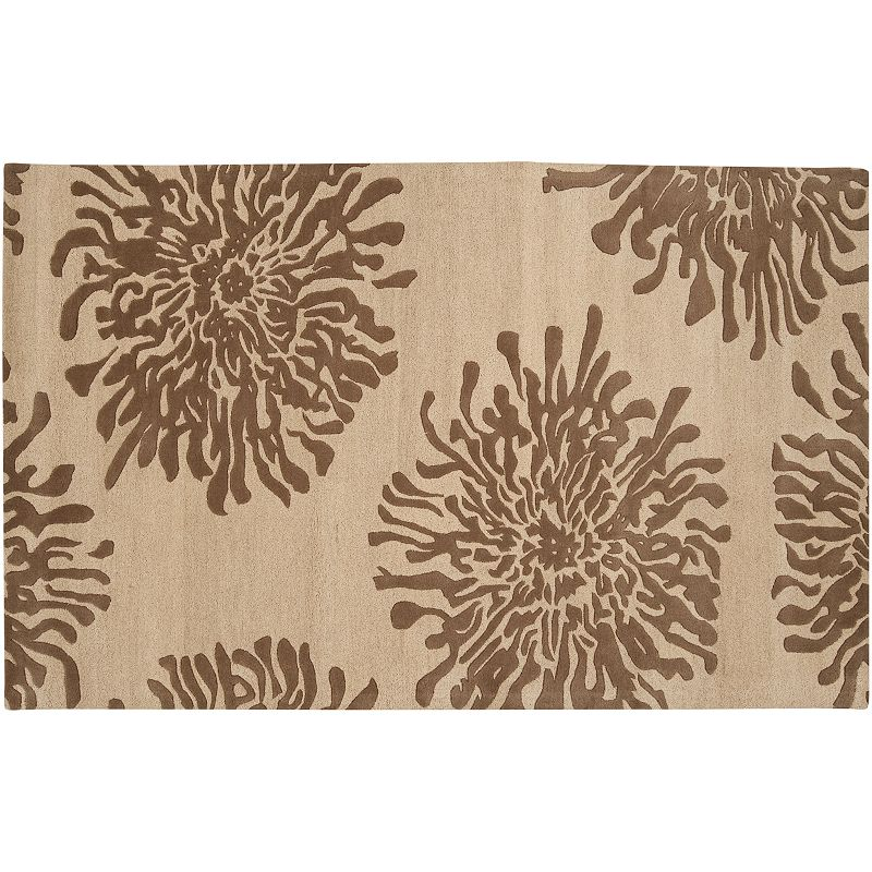 Decor 140 Bombay Floral Wool Rug, Brown, 3X5 Ft Product Image