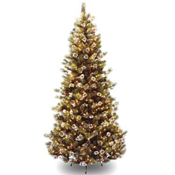 7.5-ft. Pre-Lit Glittery Pine Artificial Christmas Tree