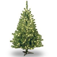 4-ft. Pre-Lit Kincaid Spruce Artificial Christmas Tree