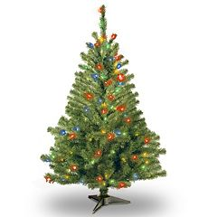 4-ft. Pre-Lit Multicolor Kincaid Spruce Artificial Christmas Tree