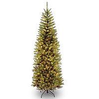 7.5-ft. Pre-Lit Kingswood Fir Pencil Artificial Christmas Tree