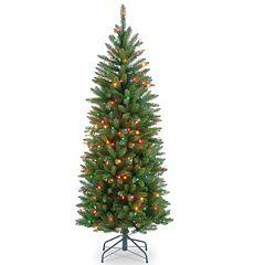4.5-ft. Pre-Lit Kingswood Fir Pencil Artificial Christmas Tree