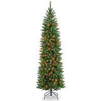 6.5-ft. Pre-Lit Multicolor Kingswood Fir Pencil Artificial Christmas Tree