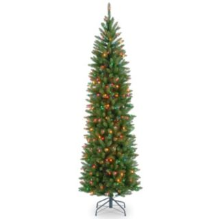 7.5-ft. Pre-Lit Multicolor Kingswood Fir Pencil Artificial Christmas Tree