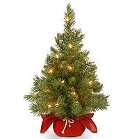 24-in. Pre-Lit Majestic Fir Artificial Christmas Tree & Red Cloth Bag