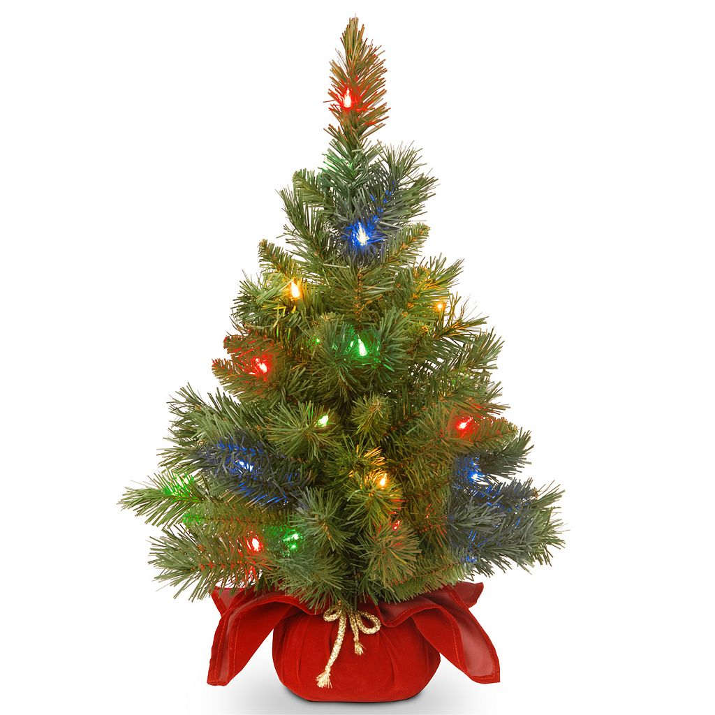 24-in. Pre-Lit LED Multicolor Majestic Fir Artificial Christmas Tree