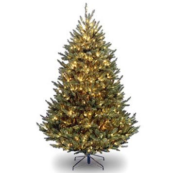 7.5-ft. Pre-Lit Natural Fraser Fir Artificial Christmas Tree